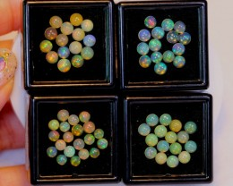 NR Auction ~ 10.12ct Round 4mm Welo Opal Parcel Lot