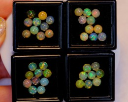 NR Auction ~ 12.41ct Round 5mm Welo Opal Parcel Lot