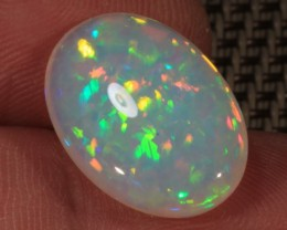 7.75CT~BRILLIANT 5/5 DOUBLE SIDED WELO OPAL CAB~RAINBOW PRISM/CHAFF