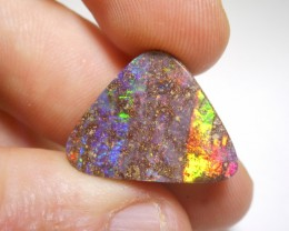 16.6ct Electric Gem Multicolour Boulder Opal Polished Stone