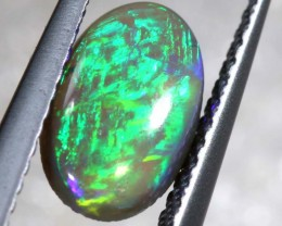 N3 - 0.89CTS BLACK OPAL POLISHED STONE INV-897