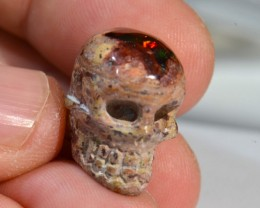 NR Auction Drilled Skull Mexican Matrix Opal