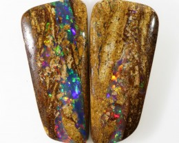 14.75Cts Boulder Opal Wood repelcement  pair QOM 1695