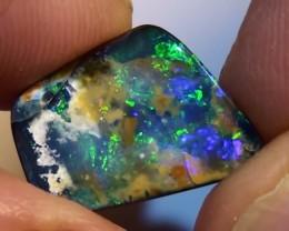 6.0 t Boulder Opal Natural Blue Green Color