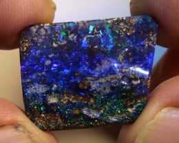 14.80 ct Boulder Opal With Natural Blue Green Color