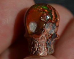 NR Auction SKULL Stone Carved Awesome Colours Drilled 4 Pendant