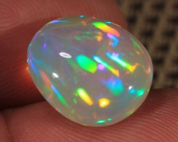 6.07CT~BRILLIANT 5/5 WELO OPAL CAB~RAINBOW PRISM