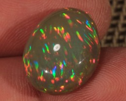 10.50CT~BRILLIANT 5/5 DARK BASE WELO OPAL CAB~RAINBOW PRISM