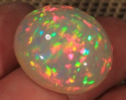 28.87CT~BRILLIANT 5/5 DARK BASE WELO OPAL CAB~HONEYCOMB OPAL