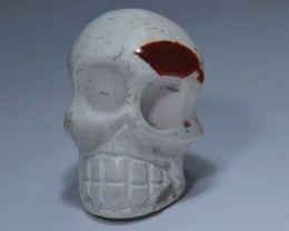 30cts Skull Stone Carved Mexican Matrix Opal.