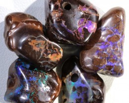 57.70 CTS DRILLED BOULDER MATRIX  SCULPTURE BEADS PARCEL [SEDA36]