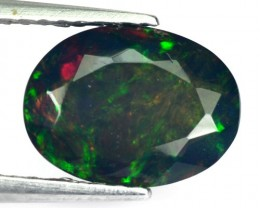1.08 Cts Smoked Multi Color Play Ethiopian Black Opal