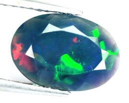 0.99 Cts Smoked Multi Color Play Ethiopian Black Opal