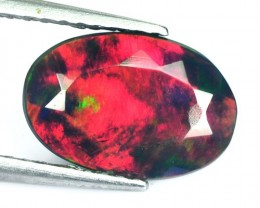 1.10 Cts Smoked Multi Color Play Ethiopian Black Opal