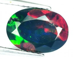1.19 Cts Smoked Multi Color Play Ethiopian Black Opal