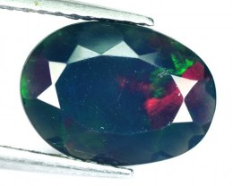 1.15 Cts Smoked Multi Color Play Ethiopian Black Opal