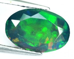 1.11 Cts Smoked Multi Color Play Ethiopian Black Opal