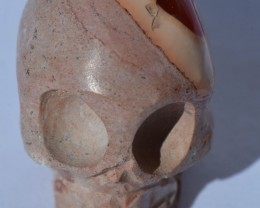 34cts Skull Stone Carved Mexican Matrix Opal.
