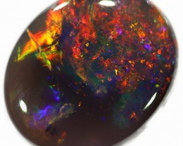 Black Lighting Ridge Opal 1.5 Ct 9X7X3 mm LRBO504