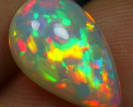 TOP CLASS COLLECTIBLE OPAL, 3.90cts ELEGANT FLORAL HONEYCOMB PATTERN