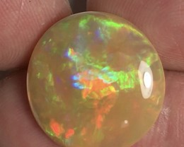 Bright 20x5mm Round 10.20ct Welo Ethiopia Opal Cab.