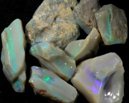 147.50 CTS GAMBLE  COLOURFUL ROUGH PARCEL FROM LIGHTNING RIDGE[BR5971]