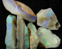 93.15 CTS GAMBLE  COLOURFUL ROUGH PARCEL FROM LIGHTNING RIDGE[BR5972]