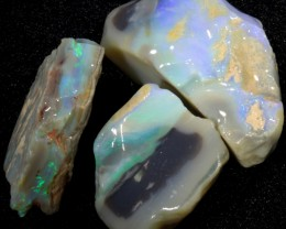 99.65 CTS GAMBLE  COLOURFUL ROUGH PARCEL FROM LIGHTNING RIDGE[BR5974]