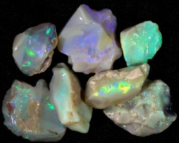 77.35 CTS GAMBLE  COLOURFUL ROUGH PARCEL FROM LIGHTNING RIDGE[BR5978]