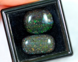 NR Auction ~ 13.27Ct Rainbow Color Black Matrix Honduras Parcel Opal