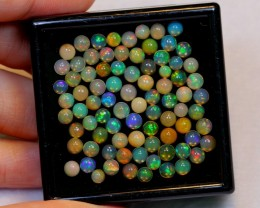 NR Auction ~ 13.85ct Round 3mm, 4mm Welo Opal Parcel Lot