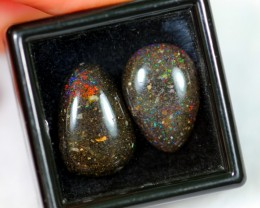 NR Auction ~ 10.64Ct Rainbow Color Black Matrix Honduras Parcel Opal