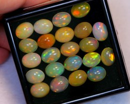 NR Auction ~ 26.15ct Oval 9x7mm Welo Opal Parcel Lot