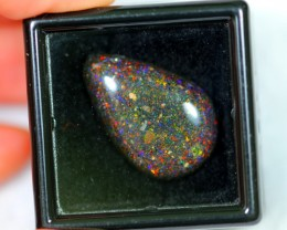 NR Auction ~ 8.75Ct Rainbow Color Black Matrix Honduras Opal Polished