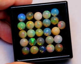 NR Auction ~ 21.77ct Round 7mm Welo Opal Parcel Lot