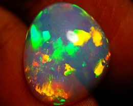 4.87 CT EXQUISITE QUALITY BEAUTIFUL FLASHY MULTI COLOR ETHIOPIAN OPAL-AC60