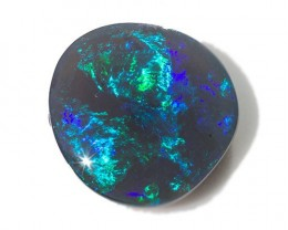 7.8ct Black opal Lightning Ridge free form cab