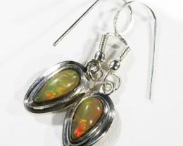 Ethiopian m Opal set in Silver Earring CF1820