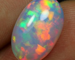 3.50cts Red Rainbow Fire Floral Ethiopian Opal