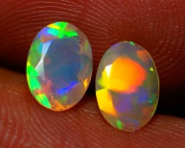 7x5 MM AAA QUALITY !!  WELO  FACETED OPAL PAIR-AB301