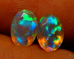 7x5 MM AAA QUALITY !!  WELO  FACETED OPAL PAIR-AB302