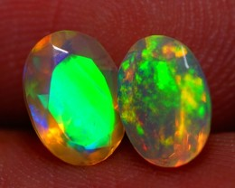 7x5 MM AAA QUALITY !!  WELO  FACETED OPAL PAIR-AB307