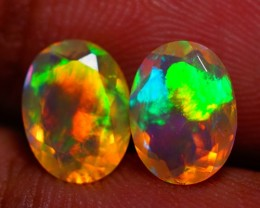 8X6MM  TOP QUALITY !!  WELO ETHIOPIAN FACETED OPAL PAIR-AB315