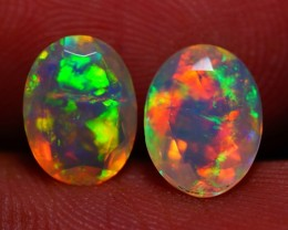 8X6MM  TOP QUALITY !!  WELO ETHIOPIAN FACETED OPAL PAIR-AB320