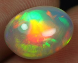 Top Grade 4.65cts Superb Strong Neon Fire Pattern Ethiopian Opal