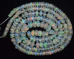29.20 Ct Natural Ethiopian Welo Opal Beads Play Of Color