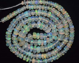 32.80 Ct Natural Ethiopian Welo Opal Beads Play Of Color