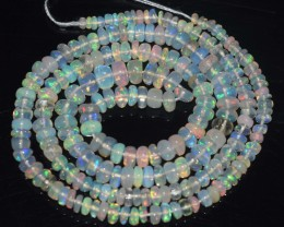 32.90 Ct Natural Ethiopian Welo Opal Beads Play Of Color