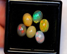 NR Auction ~ 3.54ct Oval 7x5mm Welo Opal Parcel Lot