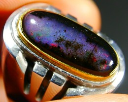 46.55 CT Natural Indonesian Wood Fossil Opal Polished With Unique Ring